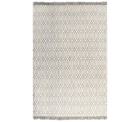 vidaXL Kilim Rug Cotton 120x180 cm with Pattern Taupe