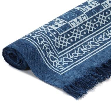 vidaxl tapis kilim coton 160 x 230 cm avec motif bleu. Black Bedroom Furniture Sets. Home Design Ideas