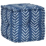 vidaXL Sitzwürfel mit Muster Handgefertigt 40 x 40 cm Indigo