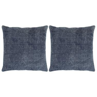vidaXL Kelim kussens handgemaakt 45x45 cm blauw 2 st[1/5]