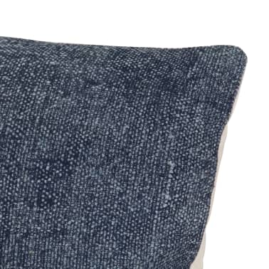 vidaXL Kelim kussens handgemaakt 45x45 cm blauw 2 st[5/5]