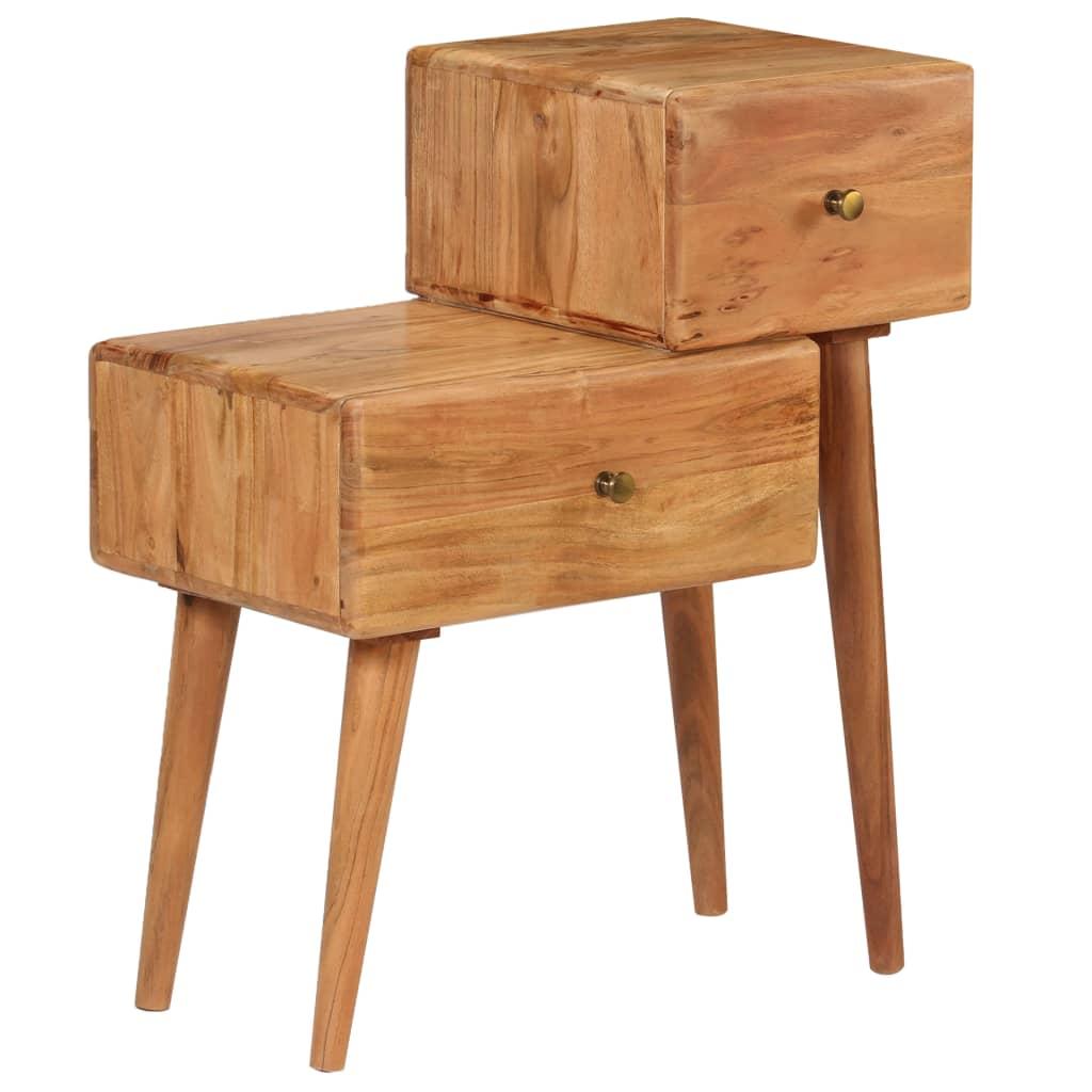 vidaXL Noptieră, 60x36x75 cm, lemn masiv de acacia poza vidaxl.ro
