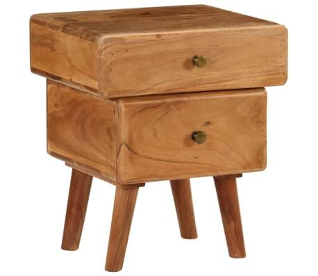 vidaXL Noční stolek 40 x 35 x 49 cm masivní akáciové dřevo
