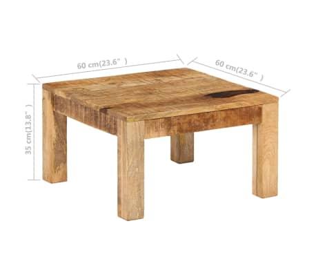 vidaXL Kavos staliukas, 60x60x35 cm, mango medienos masyvas[9/12]