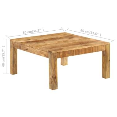 vidaXL Konferenční stolek 80 x 80 x 40 cm masivní mangovníkové dřevo[9/13]