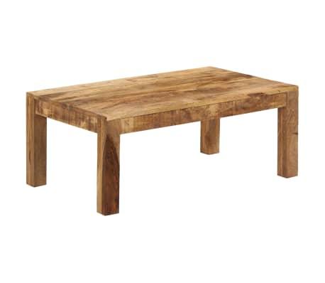 vidaXL Tavolino da Caffè in Legno Massello di Mango 100x60x40 cm[11/12]