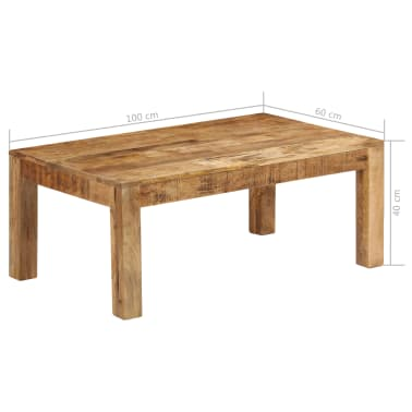 vidaXL Tavolino da Caffè in Legno Massello di Mango 100x60x40 cm[12/12]