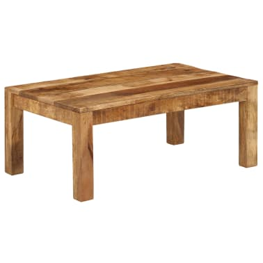 vidaXL Tavolino da Caffè in Legno Massello di Mango 100x60x40 cm[8/12]