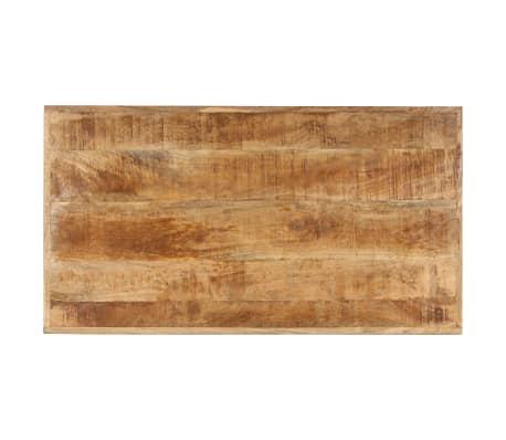 vidaXL Kavos staliukas, 110x60x47cm, mango medienos masyvas ir ketus[5/14]