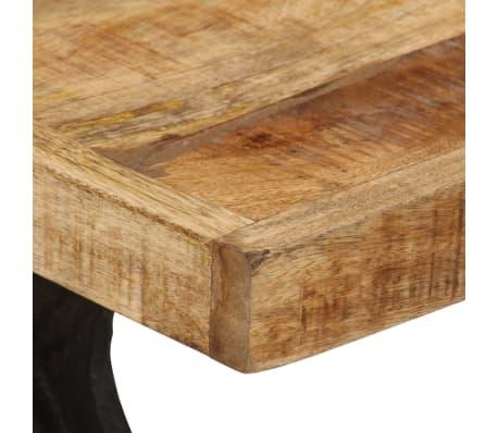 vidaXL Kavos staliukas, 110x60x47cm, mango medienos masyvas ir ketus[6/14]