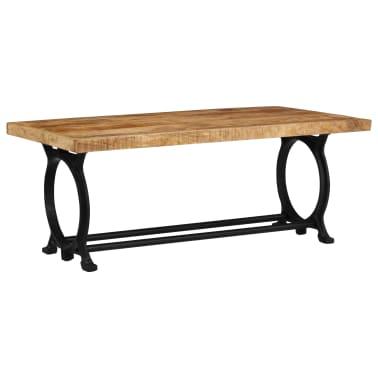vidaXL Kavos staliukas, 110x60x47cm, mango medienos masyvas ir ketus[2/14]