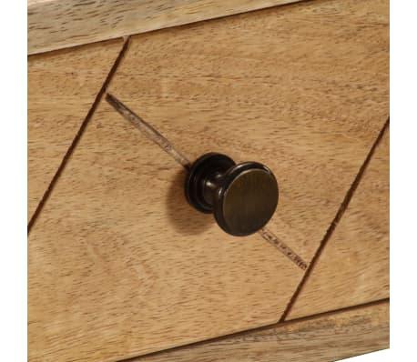 Handla vidaXL Skrivbord med lådor massivt mangoträ 110x50x76