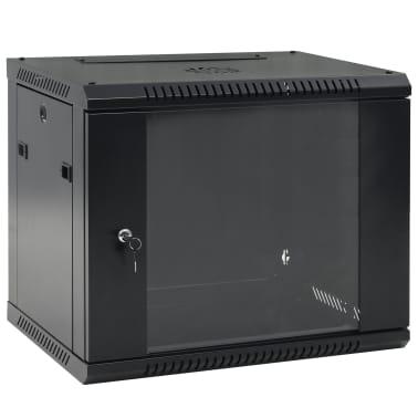"""vidaXL 9U komut. spinta, 600x450x500mm, mont. prie sien., 19"""", IP20[1/9]"""