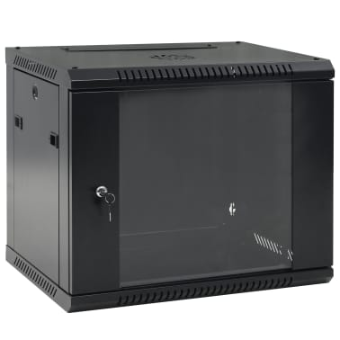 "vidaXL 9U Netzwerkschrank Wandmontage 19"" IP20 600x450x500 mm[1/9]"