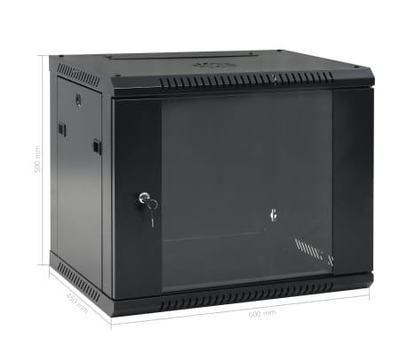 "vidaXL 9U Netzwerkschrank Wandmontage 19"" IP20 600x450x500 mm[9/9]"