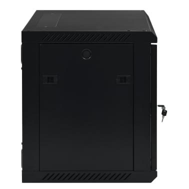 """vidaXL 9U komut. spinta, 600x450x500mm, mont. prie sien., 19"""", IP20[3/9]"""