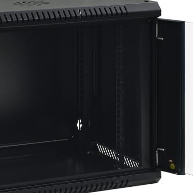 """vidaXL 9U komut. spinta, 600x450x500mm, mont. prie sien., 19"""", IP20[8/9]"""