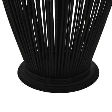 vidaXL Suport felinar lumânări suspendat, negru, 95 cm, bambus[3/5]