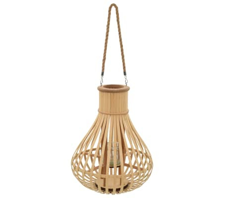 vidaXL Hanging Candle Lantern Holder Bamboo Natural