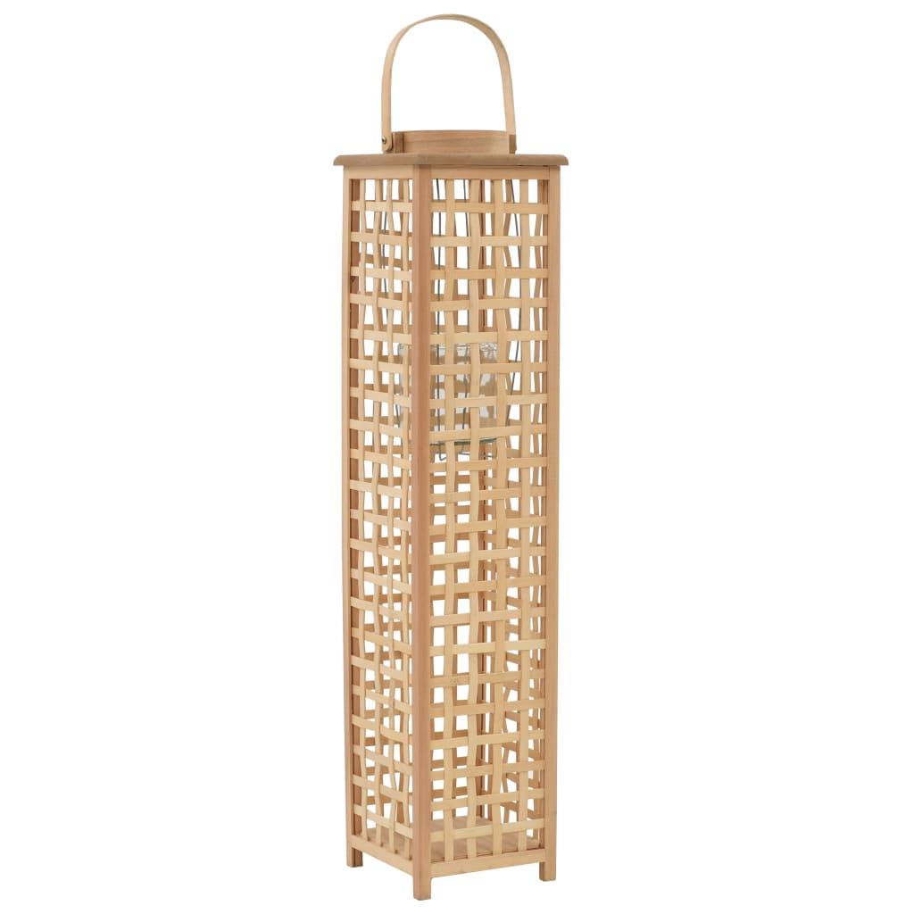 vidaXL Závěsná lucerna na svíčku bambus přírodní