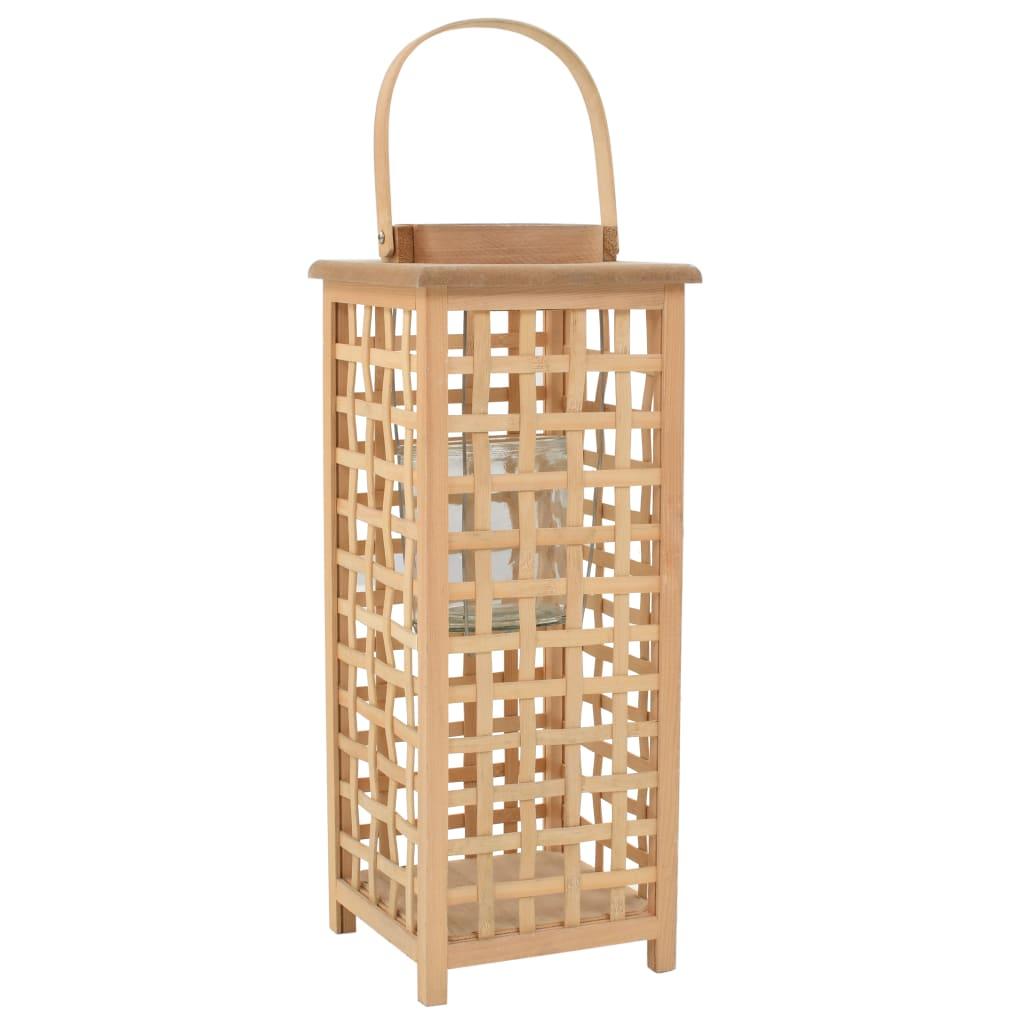Afbeelding van vidaXL Lantaarnhouder hangend bamboe naturel