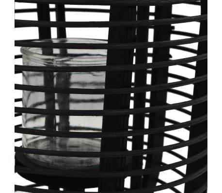 vidaXL fritstående stearinlyslanterneholder bambus sort[3/4]