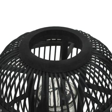 vidaXL fritstående stearinlyslanterneholder bambus sort[2/4]