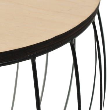 vidaXL Conjunto de mesas de centro 3 pcs contraplacado de álamo/ferro[7/8]