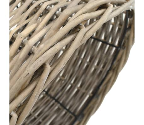 vidaXL Senčilo za svetilko pleteno 38x23 cm naravne barve[3/4]