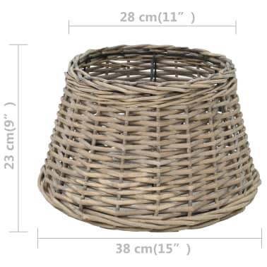 vidaXL Senčilo za svetilko pleteno 38x23 cm naravne barve[4/4]