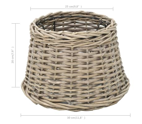 vidaXL Lamp Shade Wicker 30x20 cm Natural[4/4]