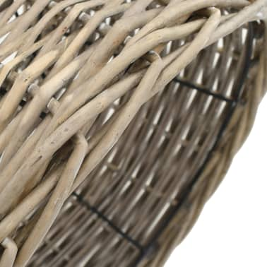 vidaXL Lamp Shade Wicker 30x20 cm Natural[3/4]