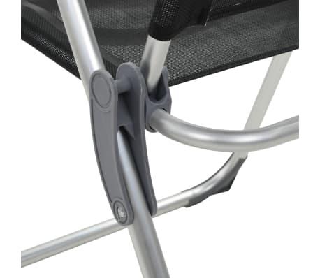 vidaXL Sillas de camping plegables de aluminio 4 unidades negro[7/8]