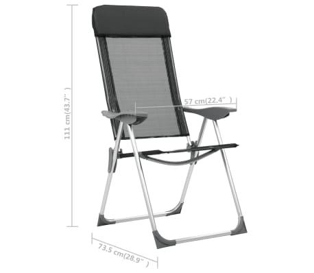 vidaXL Sillas de camping plegables de aluminio 4 unidades negro[8/8]