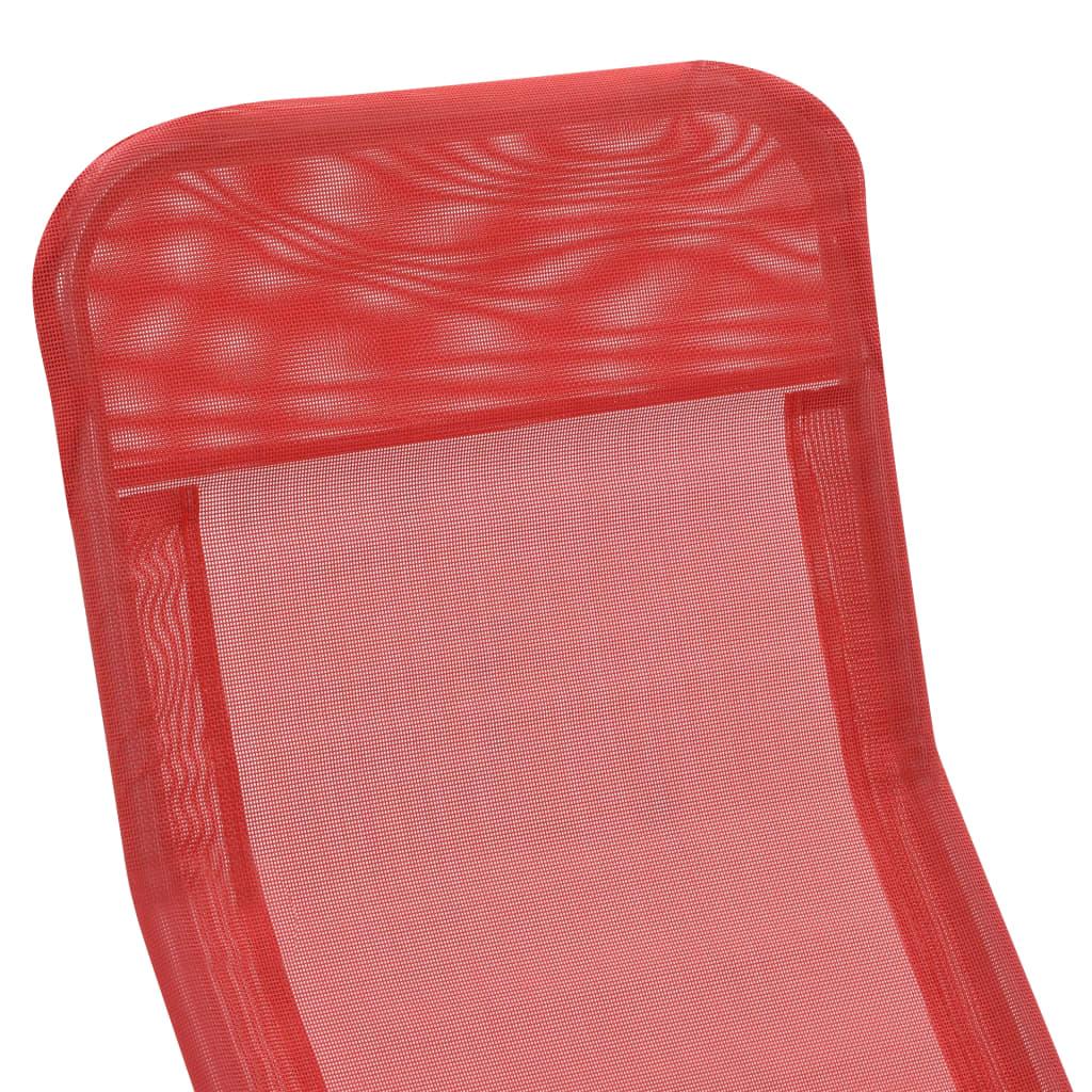 vidaXL Ligbedden inklapbaar 2 st textileen rood