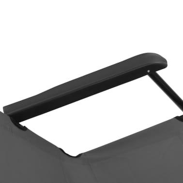 vidaXL Tumbonas plegables con reposapiés 2 unidades acero gris[11/13]