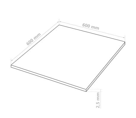 vidaXL MDF plokščių lakštai, 20vnt., kvadr., 60x60cm, 2,5mm[6/6]