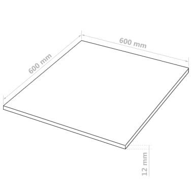 vidaXL MDF plokščių lakštai, 8vnt., 60x60cm, 12mm, kvadratiniai[6/6]