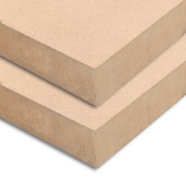 vidaXL MDF plokščių lakštai, 2vnt., 120x60cm, 25mm, stačiakampiai[2/7]