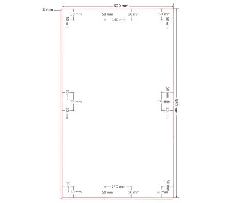 vidaXL Plošče za plakate 10 kosov DIN velikost A1 HDF 860x620x3 mm[8/8]