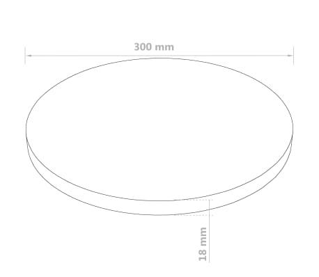 vidaXL Stalviršis, apvalus, MDF, 300x18mm[6/6]