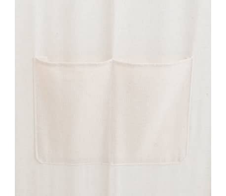 vidaXL Paravan cameră, 5 panouri, crem, 200x170x4 cm, material textil[4/4]