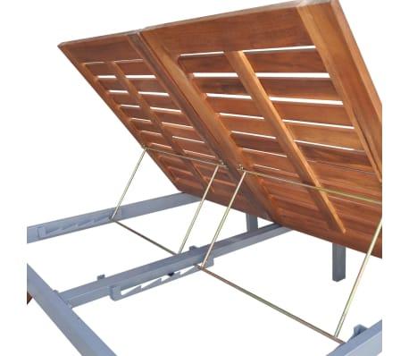 Cm Double 207x130x88 Longue Chaise D'acacia Bois Solide Vidaxl tQChBoxsrd