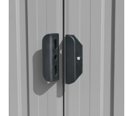 vidaXL Záhradná kôlňa 257x298x178 cm kovová sivá[7/9]