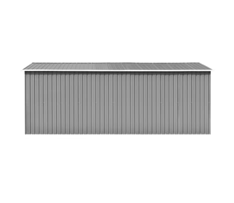 vidaXL Záhradná kôlňa 257x497x178 cm kovová sivá[4/9]