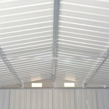 vidaXL Záhradná kôlňa 257x497x178 cm kovová sivá[6/9]