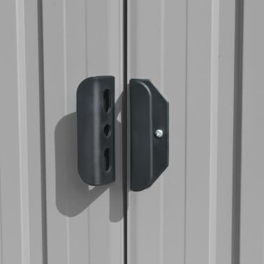 vidaXL Záhradná kôlňa 257x497x178 cm kovová sivá[7/9]