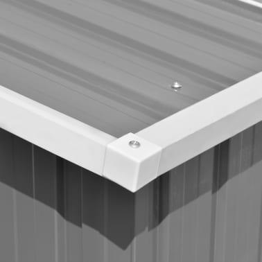 vidaXL Záhradná kôlňa 257x497x178 cm kovová sivá[8/9]