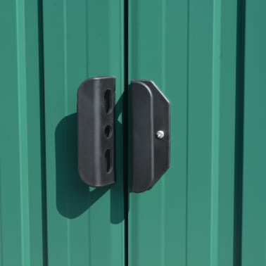 vidaXL Záhradná kôlňa 257x597x178 cm kovová zelená[7/9]