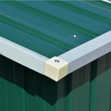 vidaXL Záhradná kôlňa 257x597x178 cm kovová zelená[8/9]